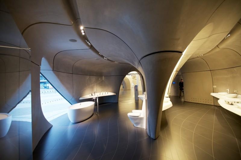 Interior concrete panels