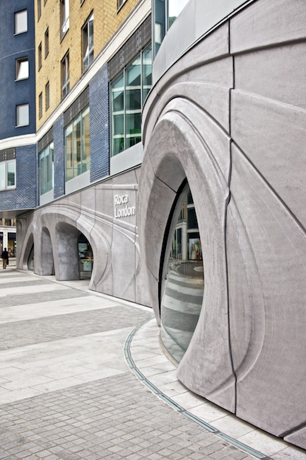roca showroom by zaha hadid u roca is a high end plumbing fixture company that cleverly decided to create a space that would act as a destination for